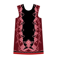design dress with baroque elements vector image