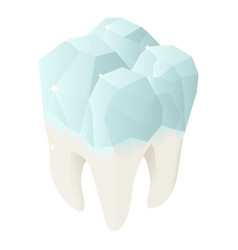 diamond tooth icon isometric style vector image