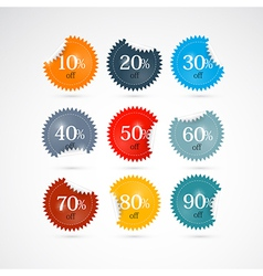 Discount Labels Tags Set vector image