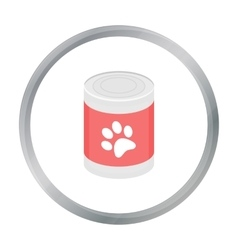 Dog food icon in cartoon style for web vector