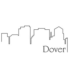 dover city one line drawing vector image