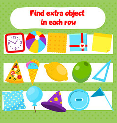 Educational children game what does not fit logic vector