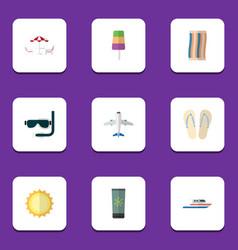 flat icon season set of wiper scuba diving vector image