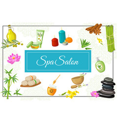 flat spa salon concept vector image