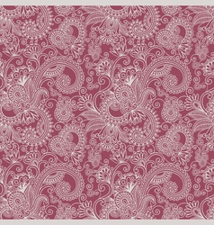 floral seamless ham pattern vector image
