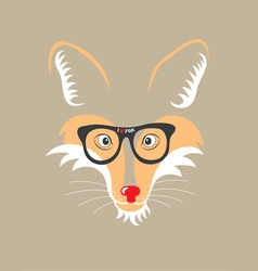 Fox with eyeglass vector image