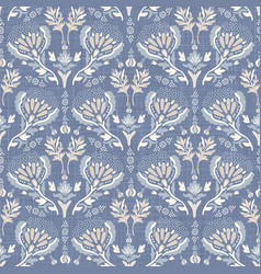 french blu shabby chic damask texture vector image