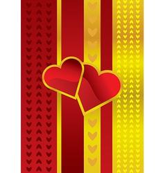 Golden love vector image