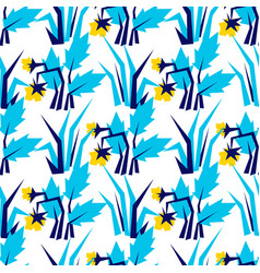 Hand drawn pattern with summer flowers and herbs vector