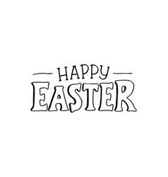 Happy easter phrase vector