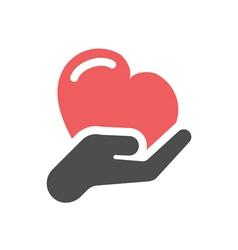 heart care icon vector image