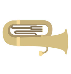 Isolated tuba icon musical instrument vector