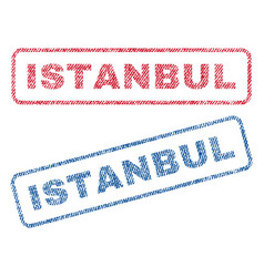 Istanbul textile stamps vector