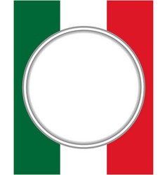 italian abstract flag round frame vector image