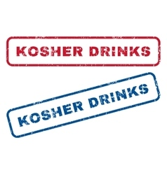 Kosher Drinks Rubber Stamps vector