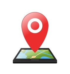 Location symbol application for smartphones vector image