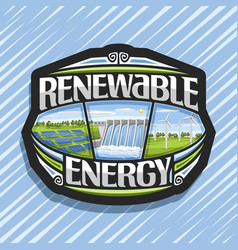 Logo for renewable energy vector