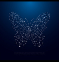 Low poly butterfly silhouette beautiful geometric vector