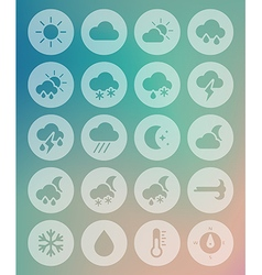 Meteorology Weather transparent icons set vector image