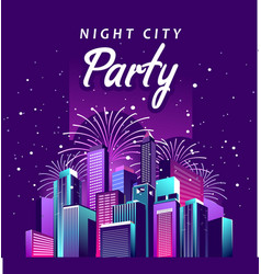 night city party vector image