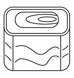 nigiri sushi icon outline style vector image