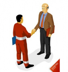 oil worker agreement vector image
