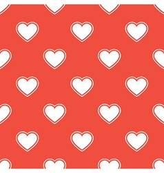 Pattern with white hearts vector image