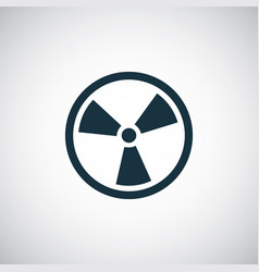 Radiation sign icon for web and ui on white vector