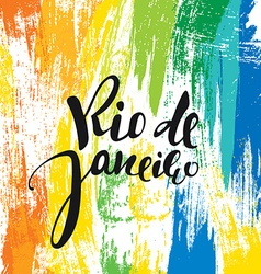 Rio de Janeiro background colors of the Brazilian vector image
