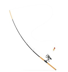rod spinning for fishing 03 vector image