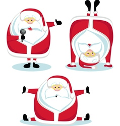 santa claus in different positions vector image