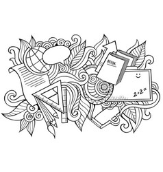 School hand drawn cartoon doodles funny vector