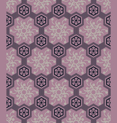 seamless pink pattern with swirling flowers vector image