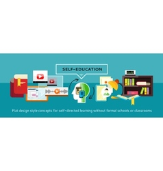 Self-education Concept vector image
