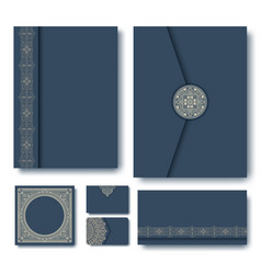 Set folders with vintage vector
