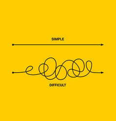 simple or difficult way path concept easy vector image