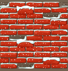 Snow covered brick wall texture seamless vector