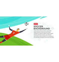 soccer player goalkeeper championship fool vector image