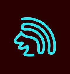 squirrel line art logo vector image