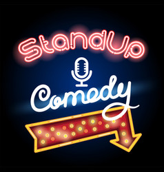 stand up comedy red arrow vector image