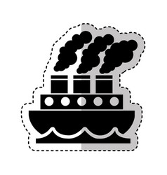steam boat isolated icon vector image