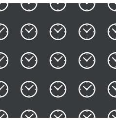 Straight black clock pattern vector image