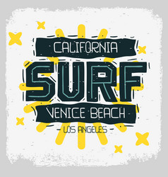 Surf venice beach los angeles california desig vector