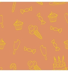 Sweet a seamless pattern vector image