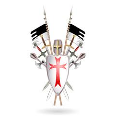 templars weapon set vector image