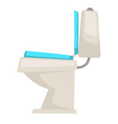 Toilet bathroom furniture sanitary device isolated vector