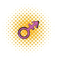 Transgender sign icon comics style vector