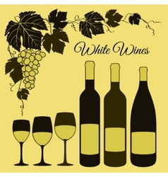 White wine set vector image