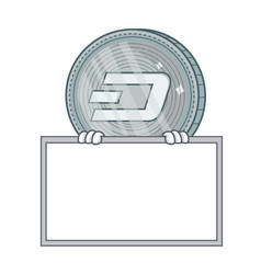 With board dash coin character cartoon vector