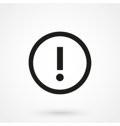 Attention icon black on white background vector image